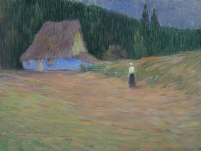 Henri Le Sidaner - La choza en los lindes del bosque, Étaples (1893)