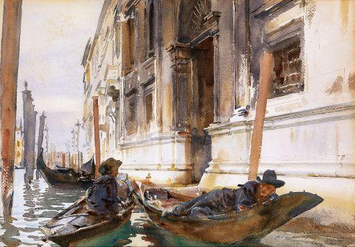 John Singer Sargent - la siesta de los gondoleros (1904)