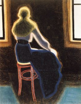 Leon Spilliaert - Young woman on a stool ( 1909)