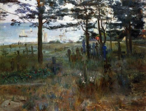 Lovis Corinth - Cementerio de los pescadores en Nidden (1893)