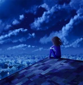 nubes en el terrado