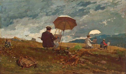 Winslow Homer - Artists Sketching in the White Mountains (1868)