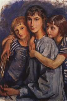 Zinaida Serebriakova - Self-Portrait with Daughters