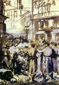 Manet - la barricada (1871)