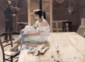 Richard Bergh - Completed Sitting (1884)