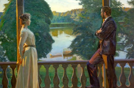 Richard Bergh - tarde nórdica de verano (1889)