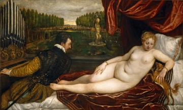 Tiziano - Venus recreándose en la Música (1550)