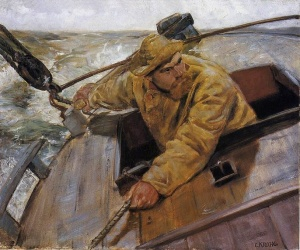 Christian Krohg - Hardt le (1882)