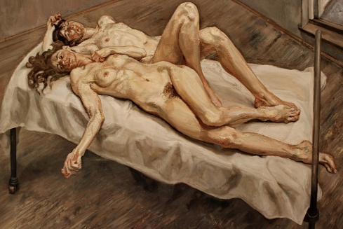Lucien Freud - dos mujeres (1992)