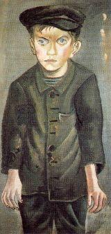 Otto Dix - joven trabajador (1920)