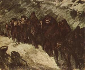 Vaszary János - soldados en la nieve (1916)