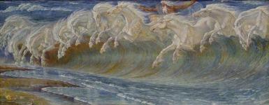 Walter Crane - Neptune's Horses (1892)