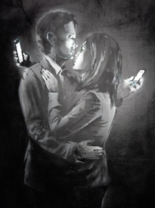 Banksy_Mobile lovers