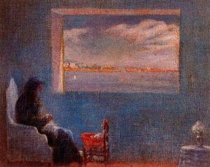 Dali - Retrato de la abuela Ana cosiendo (1920)