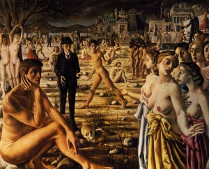Paul Delvaux - city worried