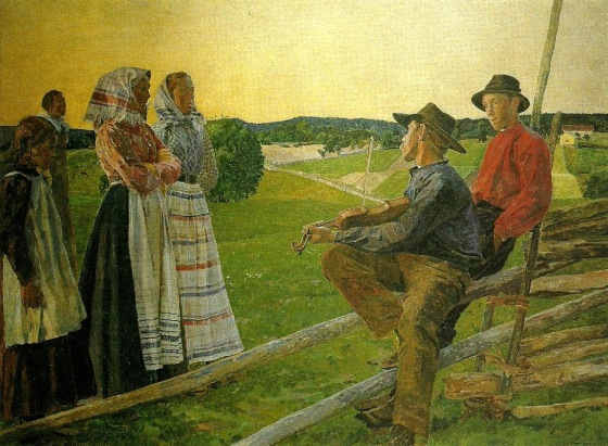 Carl Wilhelmson - A June Night in Värmland (1902)