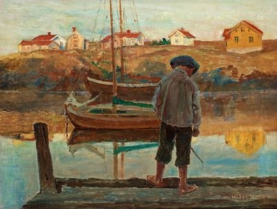 Carl Wilhelmson - BOY FISHING (1890)