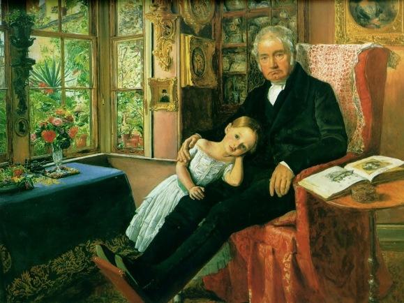 John Everett Millais - James Wyatt and His Granddaughter Mary