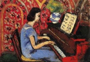 Matisse - woman at piano