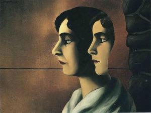 Rene Magritte - Faraway looks (1927)