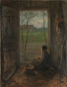 Jozef Israëls - Escena en Larens (1905)