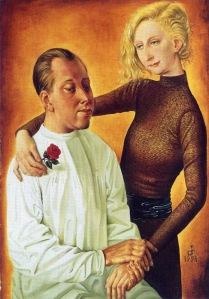 Otto Dix - Retrato del pintor Hans Theo Richter y su esposa Gisela