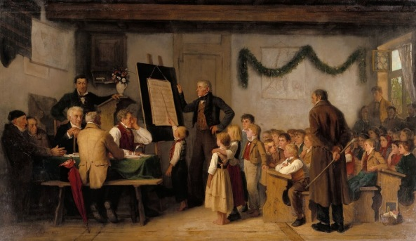 Albert Anker - The school exam (1862)