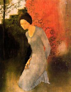 Montserrat Gaudiol - Figura arrodillada en el jardín (1975)