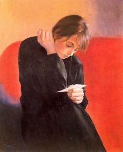 Montserrat Gaudiol - Muchacha leyendo (1987)