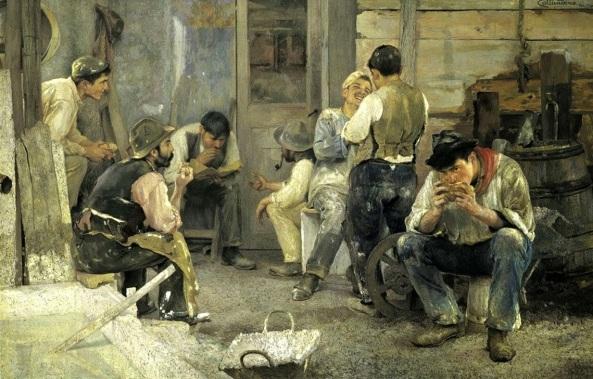 Pío Collivadino - La hora del almuerzo (1903)