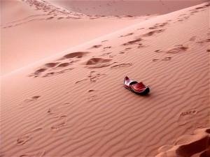 Pisadas en el desierto