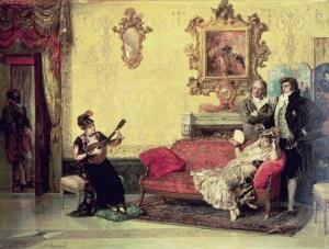 Vicente Palmaroli y González - The Concert (1880)
