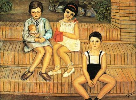 Angeles Santos - Niños en el jardín (1928)