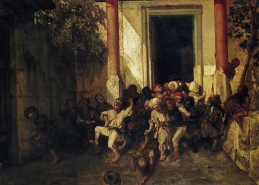 Daumier - Exit of the Turkish school