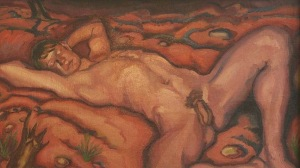 Ludwig Meidner - desnudo masculino