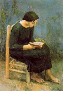 Antonio López - Josefina leyendo