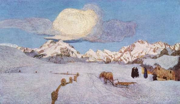 Giovani Segantinni - Tríptica Alpino La muerte (1899)