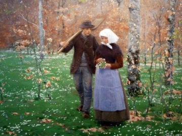 Hans Andersen Brendekilde - Springtime (1888)
