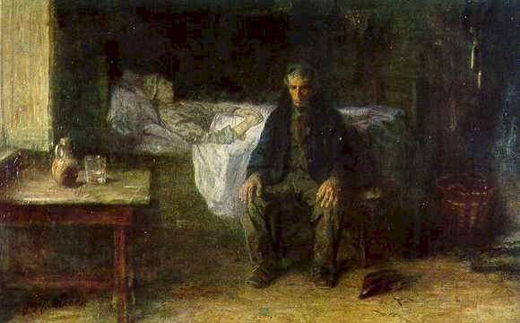 Jozef Israëls - solo en el mundo (1881)