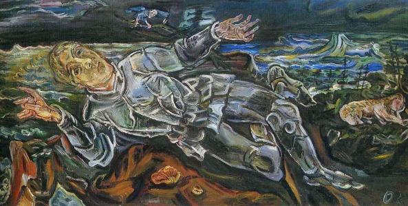 Oskar Kokoschka - Caballero errante (1915)