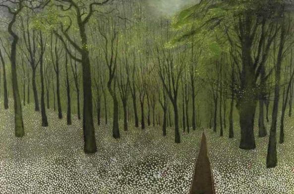 Richard Cartwright - The Garlic Woods (pastel)