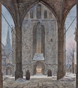 Ernst Ferdinand Oehme - Cathedral in Winter (1821)