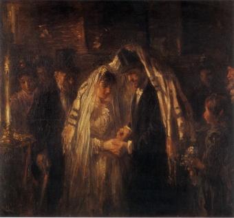 Jozef Israëls - Una boda judía (1903)