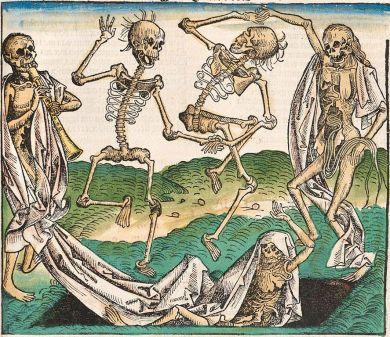 Michael Wolgemut - retablo de la danza de la muerte (1493)