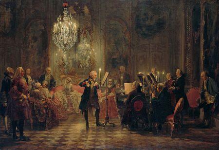 Adolph von Menzel - Concierto de Flauta con Federico el Grande en Sanssouci