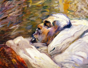 Franz Marc - The Artist's Father on His Sick Bed I (1906)