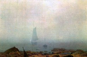 Friedrich - Sea beach in the fog (1907)