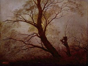Friedrich - Trees in the moonlight (1824)