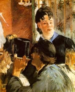 Manet - la camarera sirviendo cerveza (1879)