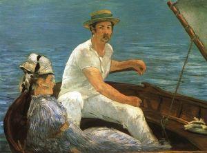 Manet - pareja en balandro (1874)